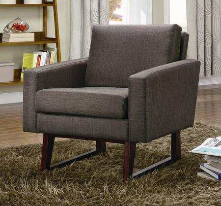 Coaster 900174 Armless Microfiber Wood Frame Accent Chair