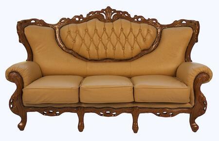 J. Horn 2118KHAKIS 2084 Series Stationary Leather Sofa