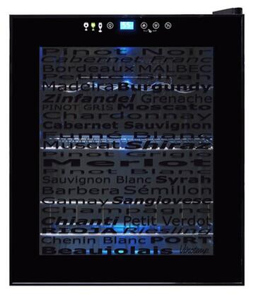 "Vinotemp VT15TSWV 17"" Freestanding Wine Cooler, in Black"
