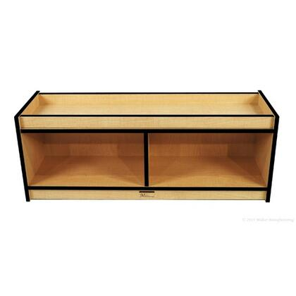 Mahar M50700 Tiny Tot Unit with Acrylic Mirror in Maple Finish with Edge Color