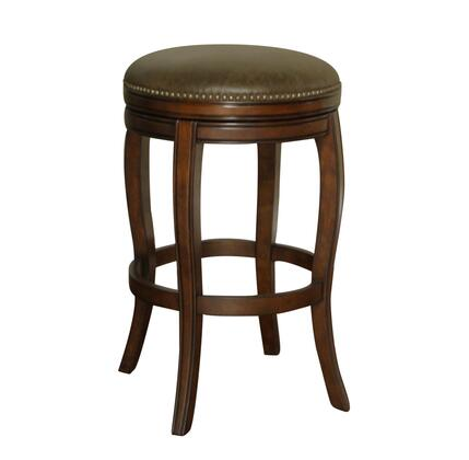 American Heritage 126891NAV Wilmington Series Residential Leather Upholstered Bar Stool