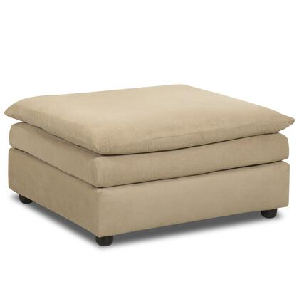 """Klaussner Heights Collection E13-OTTO- 39"""" Ottoman with Thick Foam Cushion, Fabric Upholstery and Sturdy Wooden Frame in"""