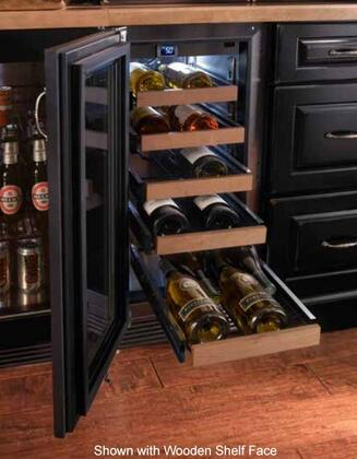 """Perlick HP15WO33xC 15"""" Signature Series Outdoor Wine Reserve with Rapidcool Forced Air Refrigeration System, Stainless Steel Interior and Commercial-Grade 525 BTU Variable-Speed Compressor, in Glass Door with Stainless Steel and"""