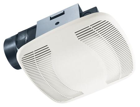 Air King BFQx Exhaust Fan with x CFM, PC/ABS Polymeric Housing, and Polymeric Grill, in White