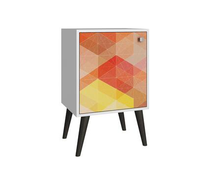 """Accentuations Avesta 1.0 Collection 6AMC1XX 18"""" 2-Shelf Side Table with Splayed Legs and Knob Design in"""