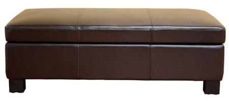 Wholesale Interiors OT12850 Gallo Series Contemporary Bonded Leather Ottoman