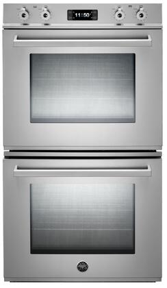 "Bertazzoni Professional Series FD30PRO 30"" Double Electric Wall Oven with 4.1 cu. ft. Per Oven, Dual Fan Convection Ovens, Pyrolytic Self-Clean, and Combo Control Interface in Stainless Steel"