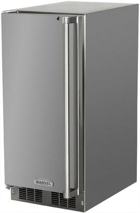 Picture of 250IMSSFL 15 Solid Stainless Door Outdoor Ice Maker With Crescent Ice Cubes  Close Door Assist System  Manual Defrost  15 lbs Storage  12 lbs Daily Ice