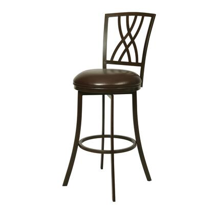 Pastel Furniture QLQN222 Quintet Bar Height Swivel Barstool in Brown