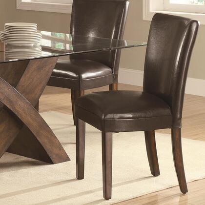 Coaster 103053 Nessa Series Contemporary Vinyl Wood Frame Dining Room Chair