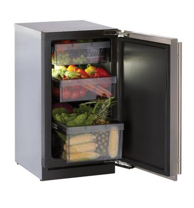 "U-Line 3018RFS Modular 3000 Series 18"" 3.4 cu. ft. Refrigerator With Front Adjustable Rear Leveling Legs, All Drawer Bins Are Removable For Easy Cleaning & Digitally Controlled Convection Cooling Sy"