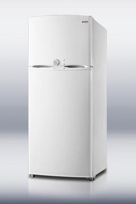 Summit FF1620LLF2 Freestanding Top Freezer Refrigerator with 15.8 cu. ft. Total Capacity 2 Glass Shelves with Door Lock