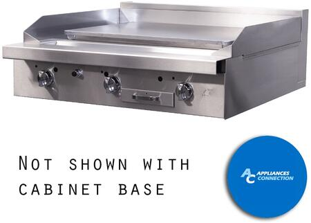"Southbend P32PPP Platinum Series 32"" Griddle with Three Standard Burners and Plancha Plate, Up to 48000 BUTs (NG)/46500 BTUs (LP)"