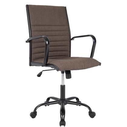 "LumiSource Master OFC-AC-MSTF 38"" - 41"" Fabric Office Chair with Fabric Upholstery, Waterfall Edge and Casters in"