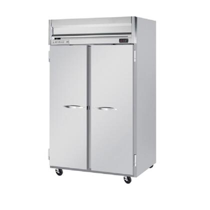 Beverage-Air HFP2-1 Horizon Series Two Section [Solid Door] Reach-In Freezer, 49 cu.ft. Capacity, Stainless Steel Front and Sides, Aluminum Interior
