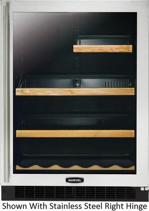 "Marvel 6GARMBBGLL 24"" Luxury Series 5.6 cu. ft. Beverage Center, in Black Door Frame"
