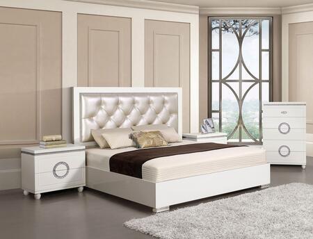 Acme Furniture Vivaldi 4 Piece Queen Size Bedroom Set