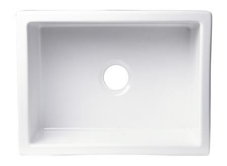 Alfi AB2418UM Kitchen Sink with Fireclay and Under Mount Installation in
