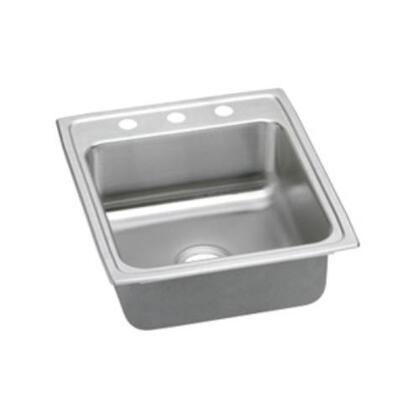 """Elkay LRADQ202240 Lustertone 4"""" Top Mount Single Bowl Stainless Steel Sink"""