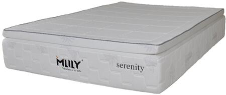 "MLily Serenity Collection SERENITY13 13"" Mattress with Memory Foam Pillowtop, Bamboo Charcoal, Flow Ventilated Foam and Removable Cover in White Color"