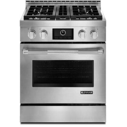 Jenn-Air JLRP5TWP Pro Style LP Range with Multimode Convection System, 14000 BTU Dual Stacked PowerBurner, 3000 BTU Simmer Burner, and 1320-Watts Electric Griddle, in Stainless Steel