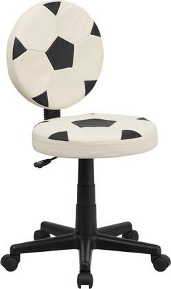 Flash Furniture BT6177SOGG Soccer Black/White Nylon Task Chair