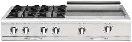 """Capital CGRT484GGN 48"""" Culinarian Series Gas Open Burner Style Cooktop"""