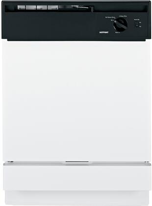 """Hotpoint HDA1100NWH 24"""" 1100 Series Built-In Full Console Dishwasher"""
