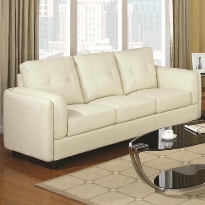 Coaster 504381 Sawyer Series Stationary Bonded Leather Sofa