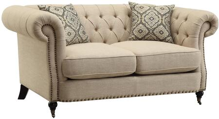 Coaster 505822 Trivellato Series Fabric Stationary with Wood Frame Loveseat