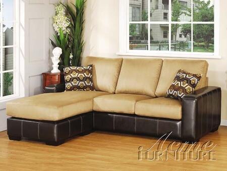 Acme Furniture 05905A Demi Series Sectional Sofa Microfiber Sofa