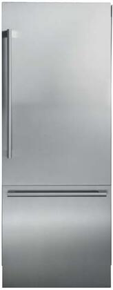"Blomberg BRFB1920x 30"" Bottom Freezer Built In Refrigerator with 16.4 cu. ft. Capacity, Blue Light Technology, Ionfresh, Duo Cycle Cooling, Water Dispenser and Ice Maker, in"