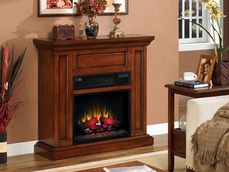 Classic Flame 23IW1254 Oxford Infrared Electric Fireplace With Energy Savings LED Technology, Warms Up To 1,000 Square Feet, 3 Infrared Quartz Tubes For Heat, Top Features Crown Molding & In