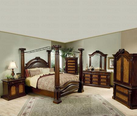 Coaster 201201KE Montecito Series  King Size Canopy Bed