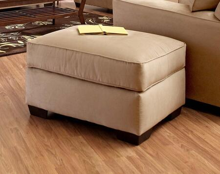 """Klaussner Heather Collection E56044-OTTO- 29"""" Ottoman with Thick Foam Top, Fabric Upholstery and Tapered Block Feet in"""