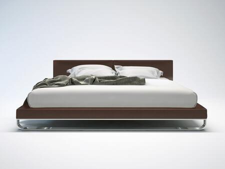 Modloft MD331QPLM Chelsea Series  Queen Size Platform Bed
