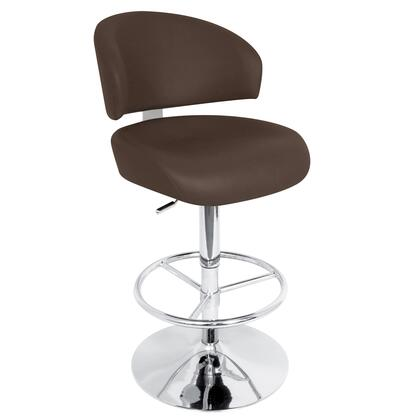 LumiSource BSTWREGENT Regent Height Adjustable Barstool with Swivel