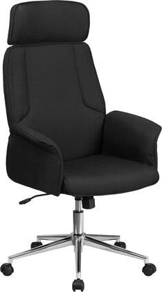 "Flash Furniture CH-CX0944H 46""-50"" High Back Fabric Executive Swivel Office Chair with Built-In Lumbar Support, Tilt Lock Mechanism and Curved Padded Arms in"