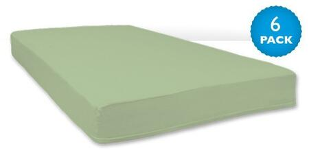 """Foundations SafeFit ZS-F5-XX-06 52"""" Zippered Sheets with High-Quality Zipper, Pass-Through Holes"""