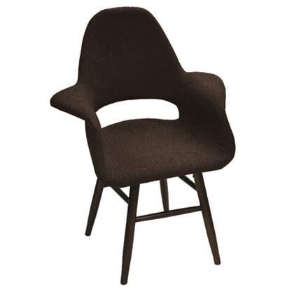 Fine Mod Imports FMI10033BROWN Eero Series Modern Fabric Wood Frame Dining Room Chair