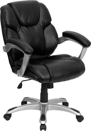 "Flash Furniture GO931HMIDBKGG 27.5"" Contemporary Office Chair"