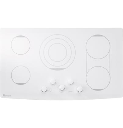 GE Monogram ZEU36KWKWW Monogram Series Electric Cooktop, in White