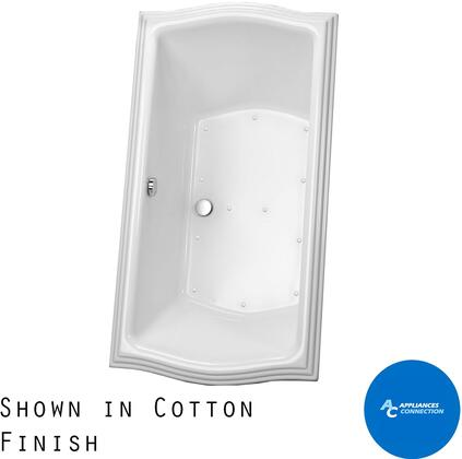 Toto ABR78512N Clayton Series Drop-In Airbath Tub with Acrylic Construction and Slip-Resistant Surface, Sedona Beige Finish
