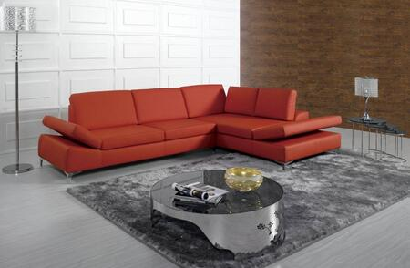 VIG Furniture VGKNK8382  Sofa and Chaise Bonded Leather Sofa