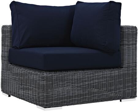 Modway EEI1870GRYNAV Summon Series  Aluminum Frame  Patio Chair
