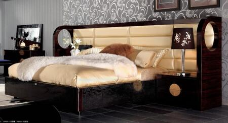 VIG Furniture VGUNAW225-180 A&X Tuscany - Modern Leather and Lacquer Bed