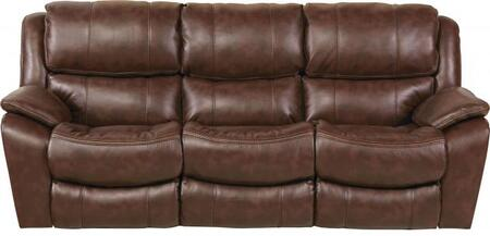 "Catnapper Beckett Collection 91"" Reclining Sofa with Auto Seat Design, Pub Back, Contrast Welt Stitch, Coil Seating Comfor-Gel and Polyurethane Fabric Upholstery"