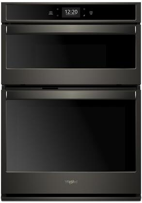 Whirlpool Woc75ec7hv 27 Inch Black Stainless Steel Electric Double Wall Convection Oven Microwave Combo