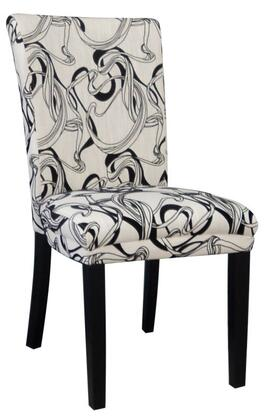 Chintaly MISTYPRSSC Melanie Series Modern Fabric Wood Frame Dining Room Chair