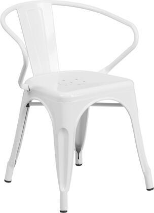 Flash Furniture CH31270WHGG  Metal Frame  Patio Arm Chair